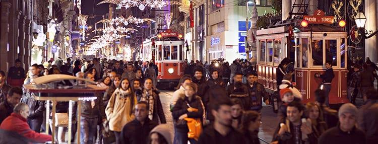 دکوراسیون بی اغلو استانبول در کریسمس